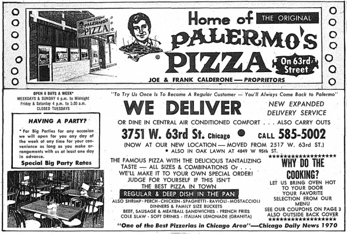 Palermo's New Location - Independent Directory, 1976 - Oak Lawn Public Library