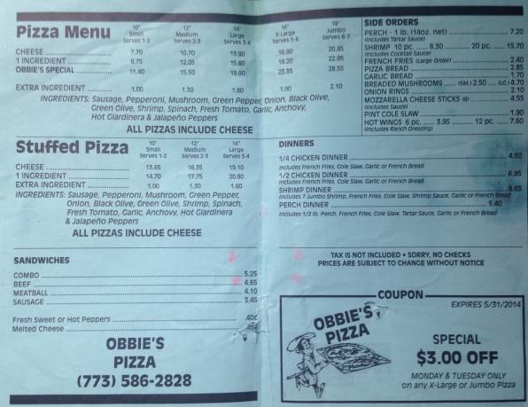 Obbie's menu 2