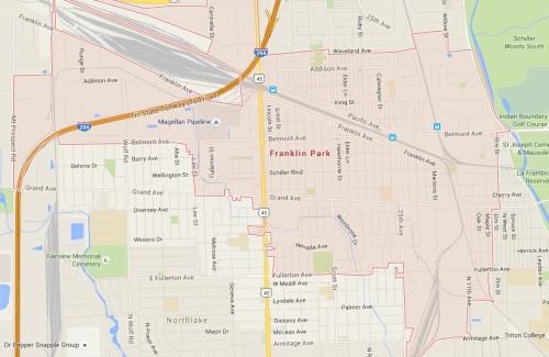 Jake's Pizza - Franklin Park Google Map