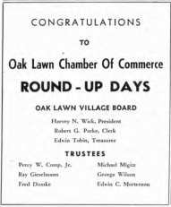 Source: Round-Up Days Scrapbook. Courtesy of the Oak Lawn Public Library. Used with permission.