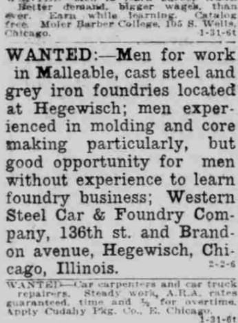 Source: Hammond Times, February 5, 1920.