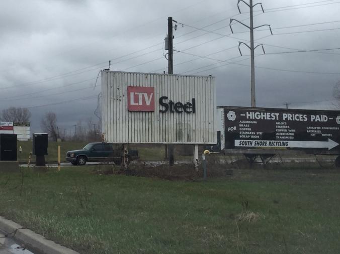 LTV Steel Sign - Pudgy's Pizza, Hegewisch - Chicago Pizza Hound