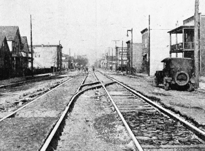 Street car at Pressed Steel, 1919