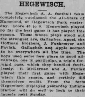 Football in Hegewisch Park - December 15, 1913