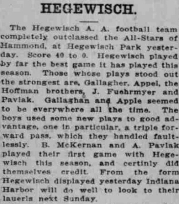 Football in Hegewisch Park - December 15, 1913