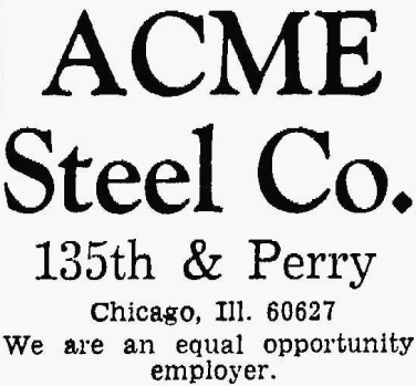 Acme Steel - The Pointer, October 3, 1963