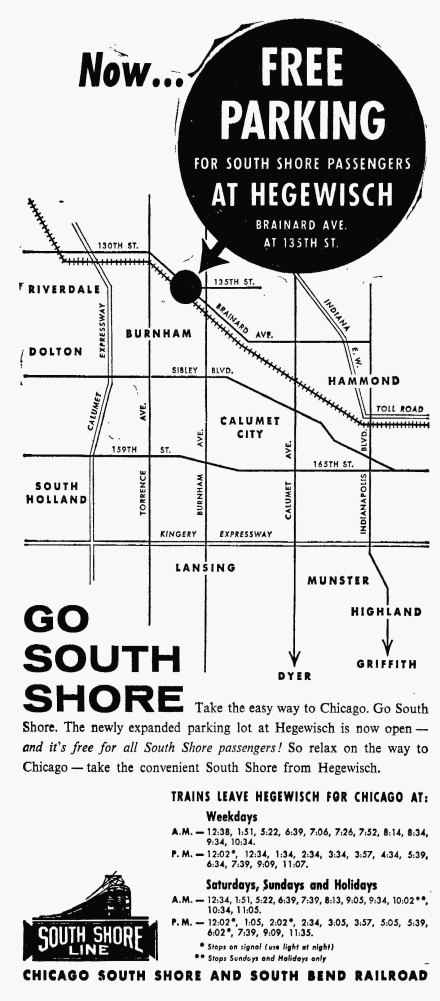 South Shore Line - The Pointer, October 3, 1963