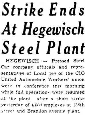 Pressed Steel Strike - Hammond Times, April 13, 1943