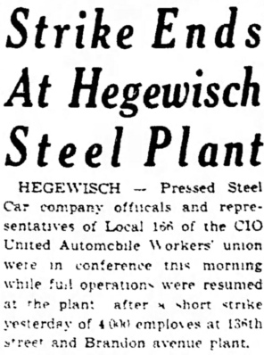 Pressed Steel Strike - Hammond Times, April 13, 1943