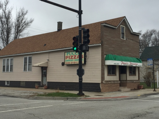 Pucci's, Larry's, and Bus Stop Pizza - Pudgy's Pizza, Hegewisch - Chicago Pizza Hound