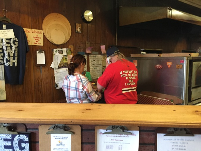 Donna and Bob at Pudgy's Counter - Pudgy's Pizza, Hegewisch - Chicago Pizza Hound
