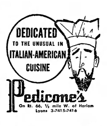 Pedicone's, Lyons, Illinois - The Garfieldian, January 29, 1958