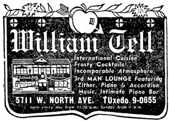 William Tell, 5711 W. North Ave. Source: The Garfieldian, March 10, 1965