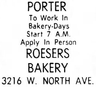 Roeser's Bakery and Father & Son Pizza - Suburbanite Economist, September 15, 1968