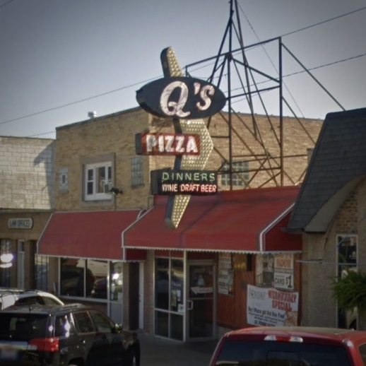 Q's Sign, Hillside, Illinois - Google Street View
