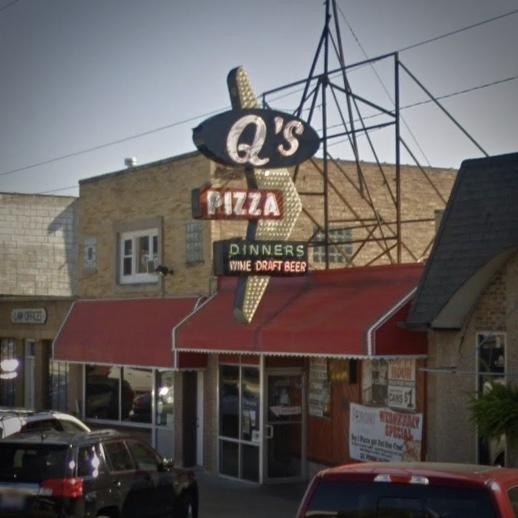 Q's Sign, Hillside, Illinois - Google Street View