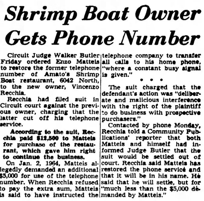 Shrimp Boat Phone Number Dispute - Austin News, January 13, 1965