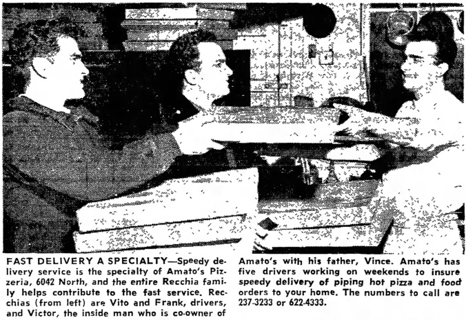 Delivery at Amato's with Vito, Frank, and Victor Recchia - The Garfieldian, February 9, 1966