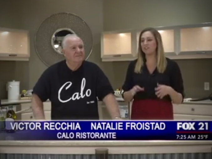 Victor Recchia of Calo Ristorante and Amato's Shirmp Boat - Fox 21 Chicago, December 3, 2015