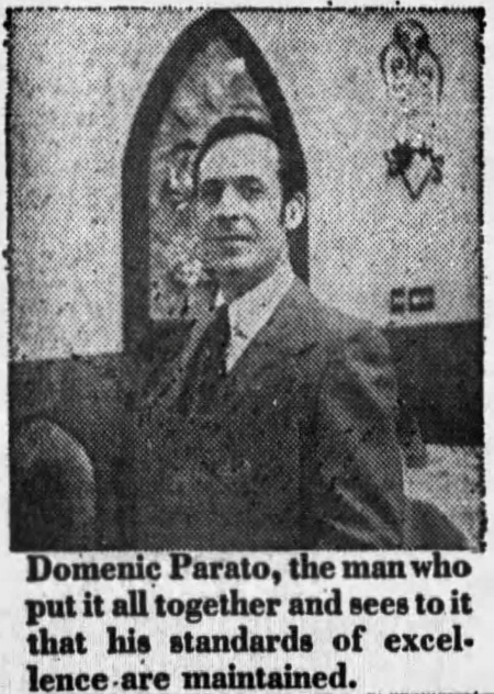 Domenic Parato, Owner of Amato's - Chicago Tribune, November 10, 1979