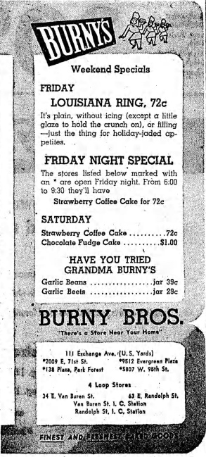Burny Bros. - Chicago Tribune, January 1, 1959