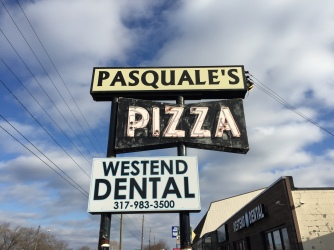 Pasquale's Pizza Sign, 16th Street, Indianapolis