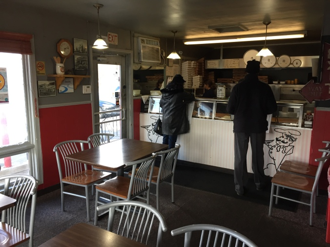 Carryout Customers at Pasquale's with View of Dining Room - December 2017
