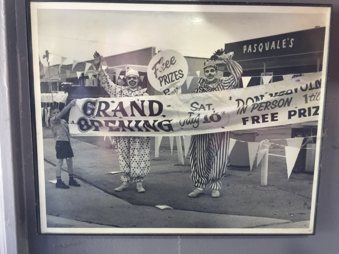Grand Opening of Pasquale's in 1964 - Speedway, Indy - December 2017