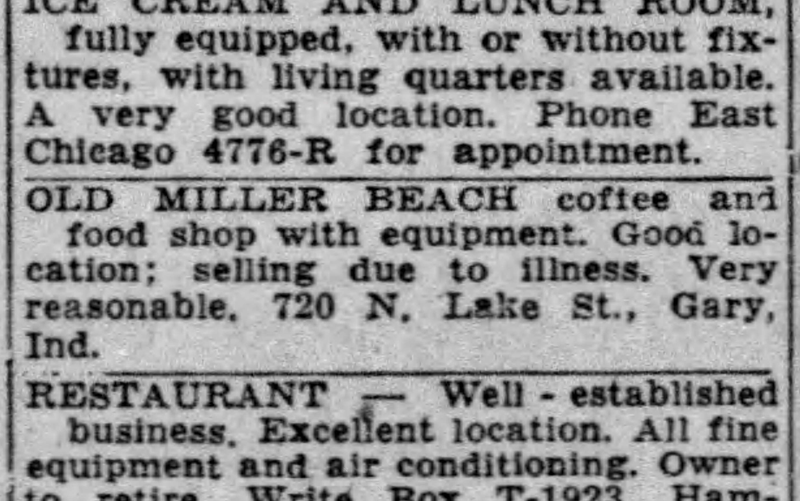 720 N. Lake St., Miller Beach - Hammond Times, August 11, 1953