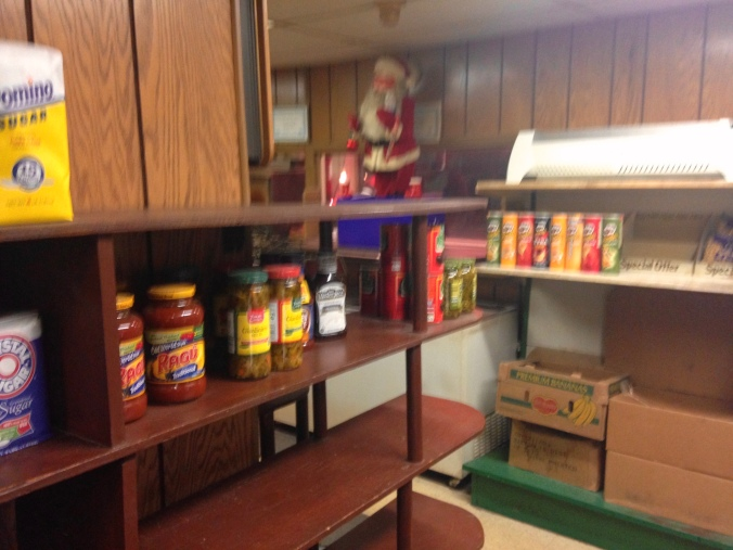 Shelves and Santa at Ono's - Gary, Indiana