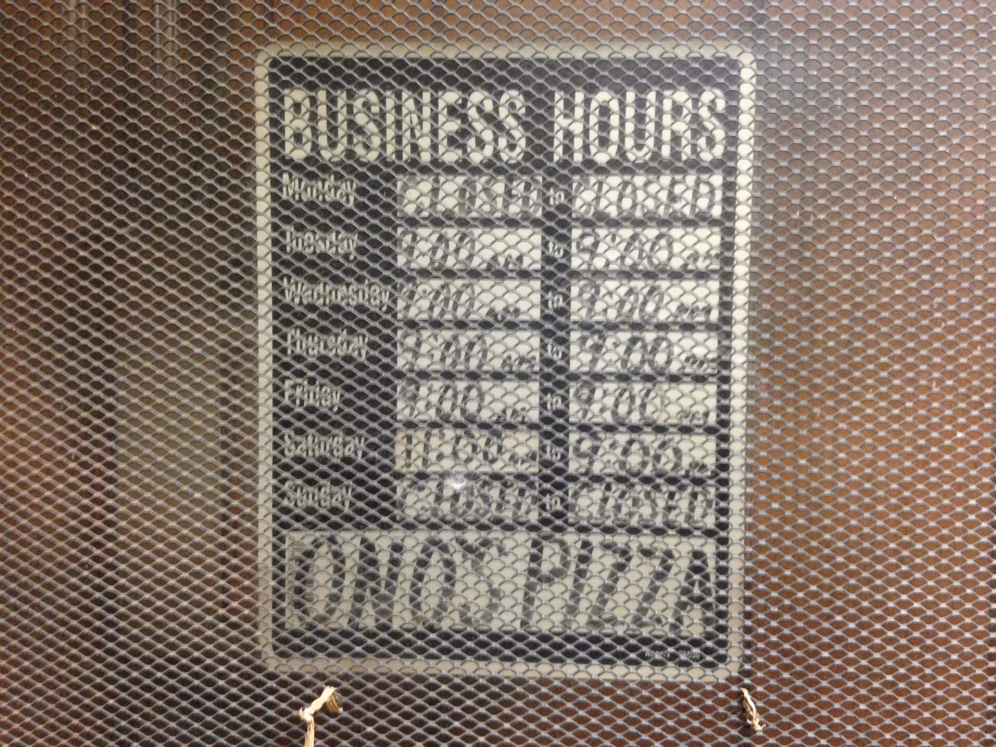 Business Hours at Ono's - Gary, Indiana